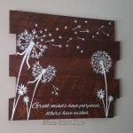 Wood Dandelion Sign