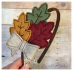fall leaves headband